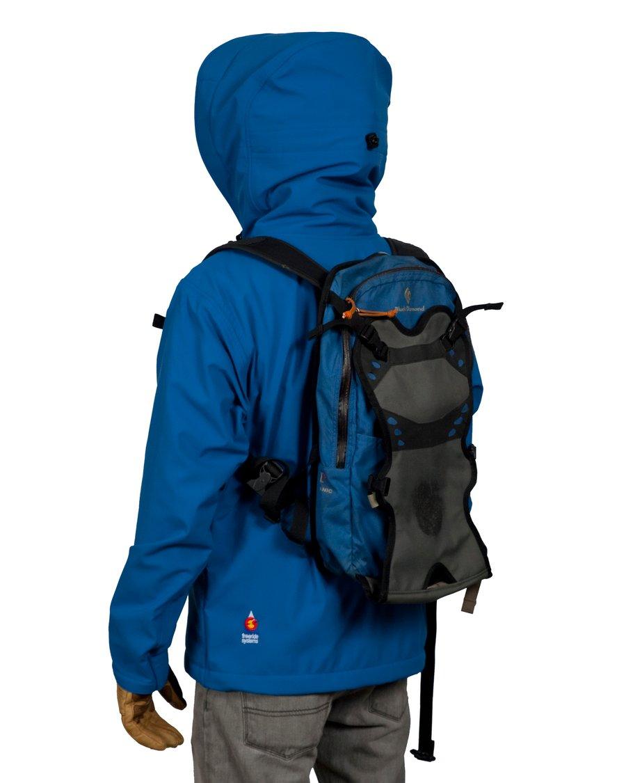 Image of Antero II Jacket Ice Blue Hybrid Polartec Made in Colorado