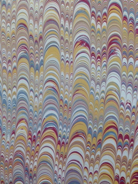 Image of Marbled Paper #55 multi-width comb