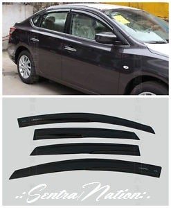Image of (B17) 13-17 Sentra Smoked Window Wind/Rain Deflector