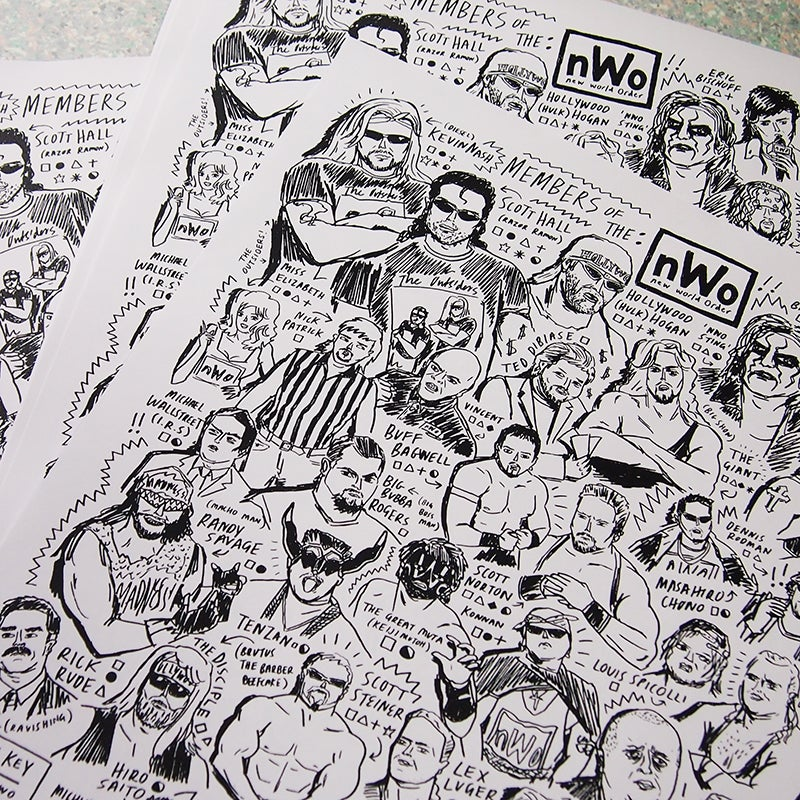 Image of MEMBERS OF THE nWo - WRESTLING PRINT