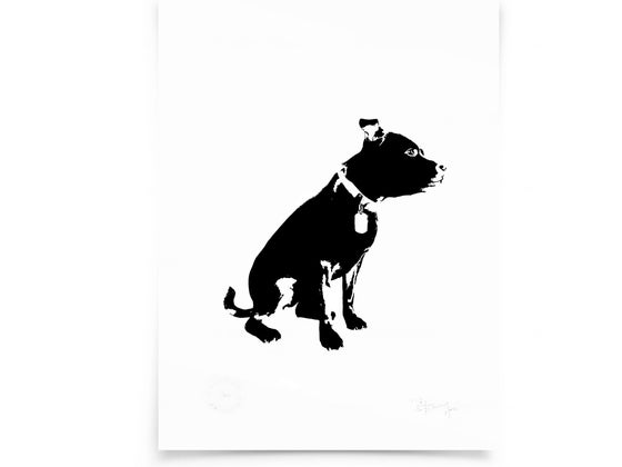 Image of Dog on paper - Screenprint