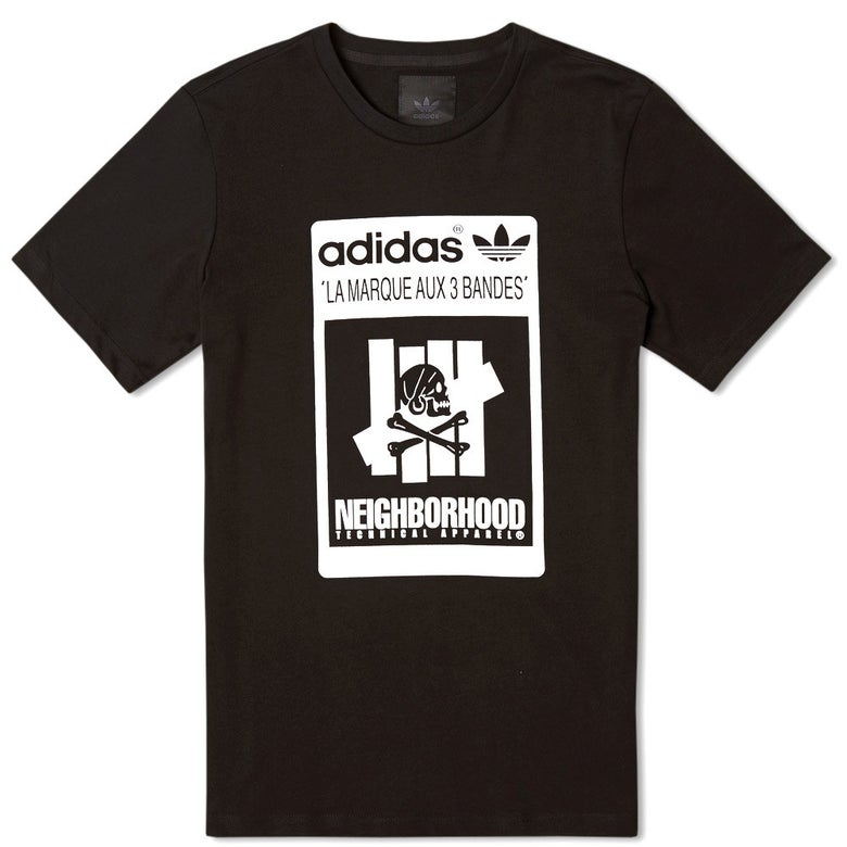 Image of NEIGHBORHOOD X ADIDAS X UNDEFEATED - LOGO TEE (BLACK)