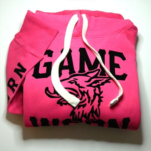 Image of GAME-WORN Ladies Pullover Hoodie - Punk Pink/Black