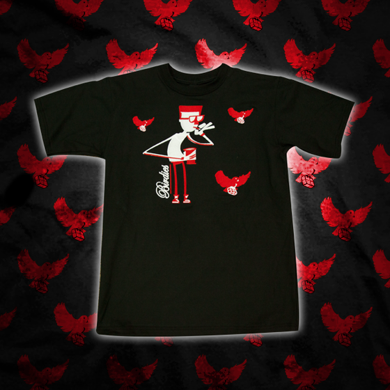 Image of Black/Red Fly Guy T Shirt