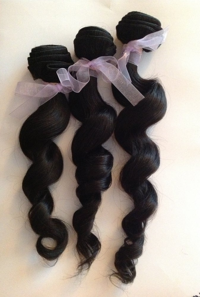 Image of Virgin Brazilian Wavy Human Hair Bundle-16 inches