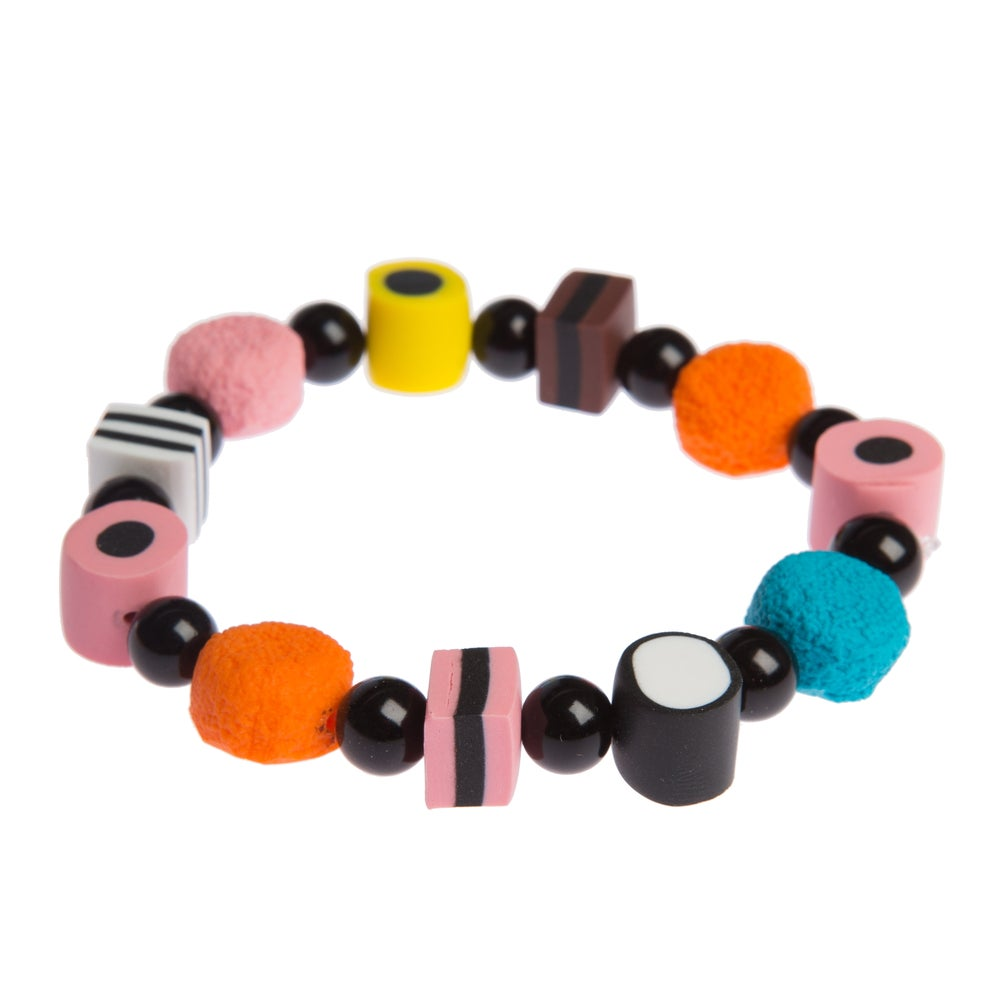 Image of Multicoloured Licorice Allsort Bracelet