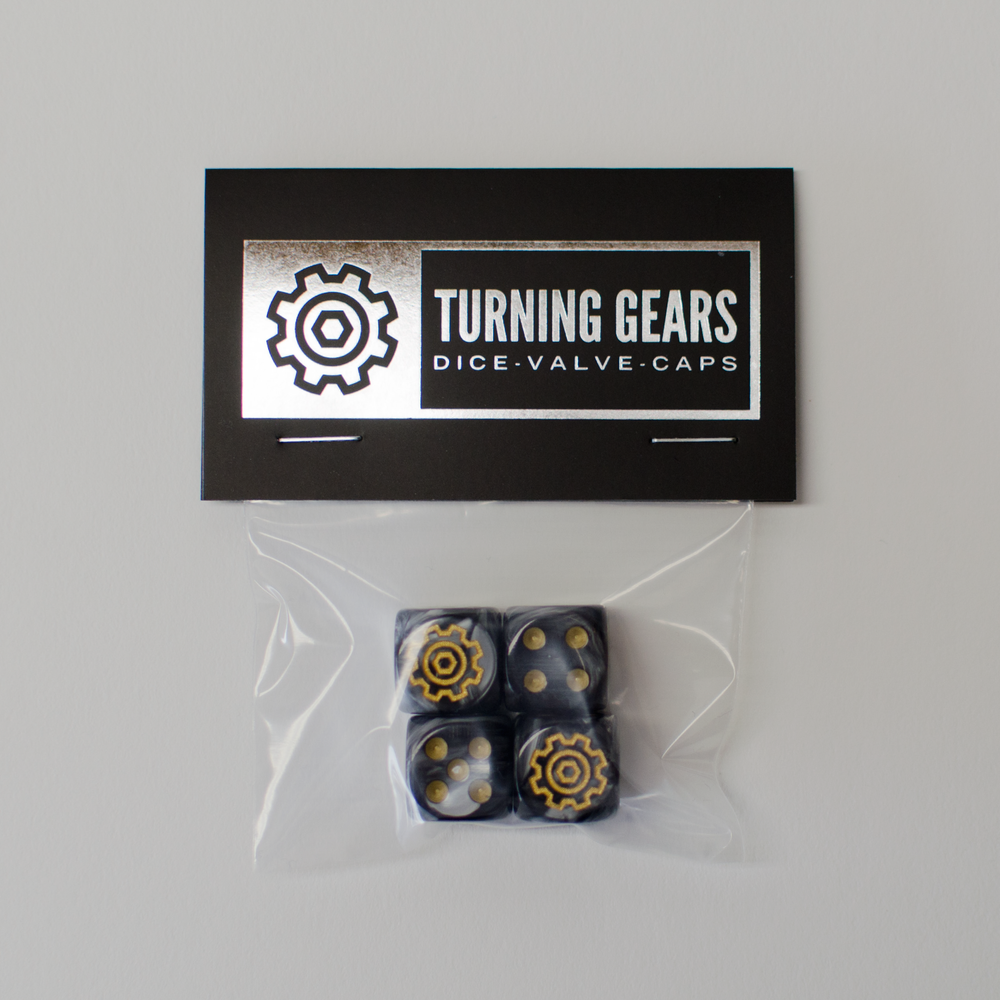 Image of Turning Gears Dice Valve Caps - 4PK Schrader Valve