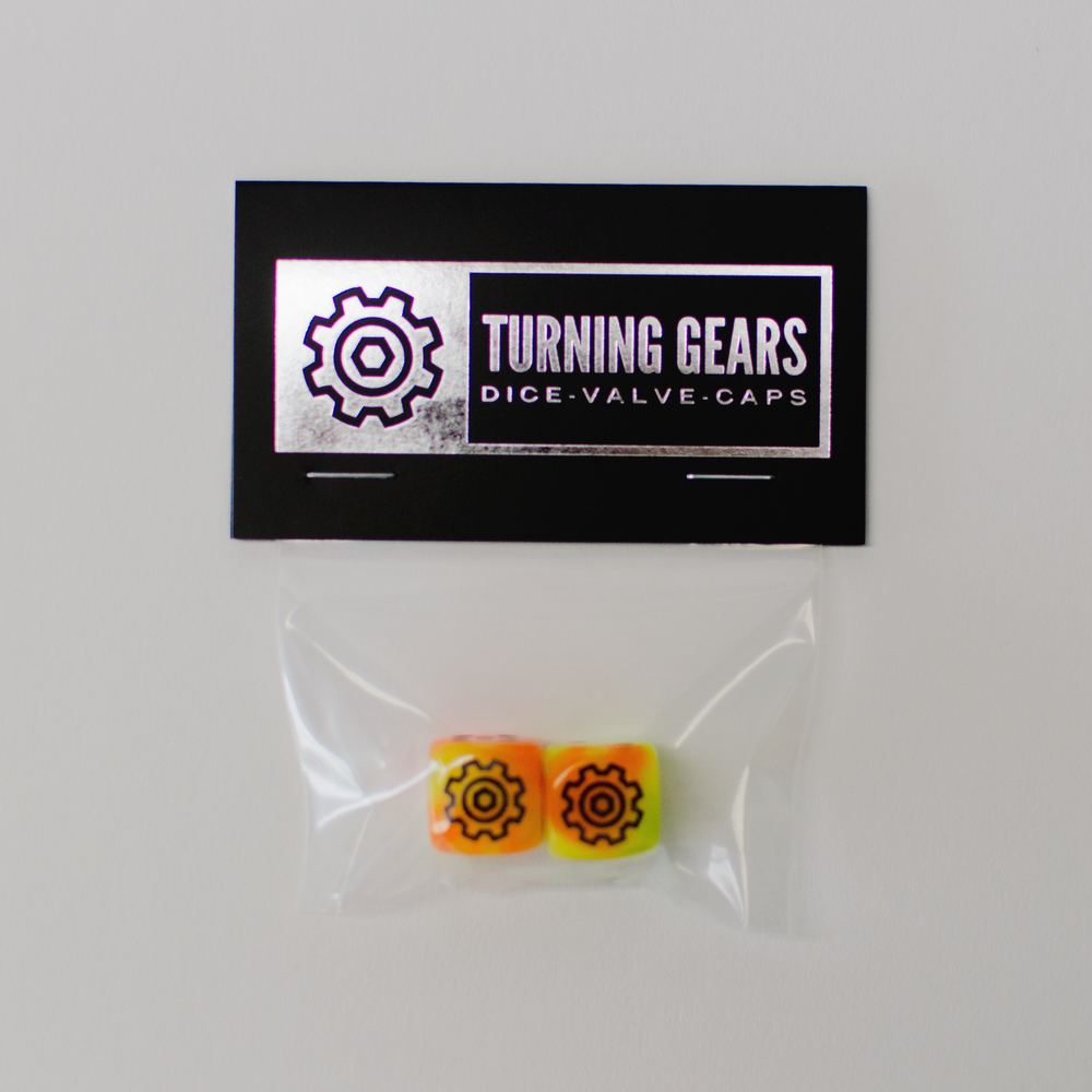 Image of Turning Gears Dice Valve Caps - 2PK Schrader Valve