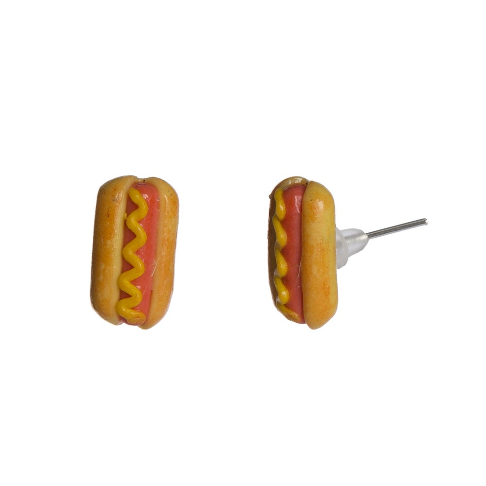 Image of Hot Dog Stud Earrings