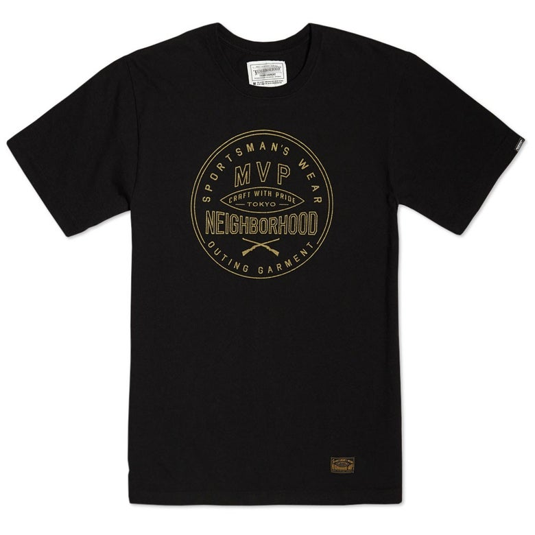 Image of NEIGHBORHOOD x MVP - NHMV 1 . Tee (BLACK)