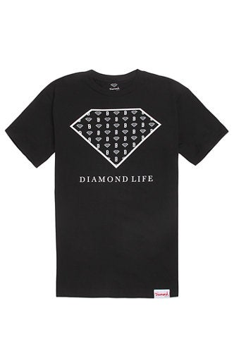 Image of Diamond Supply Co. x Black Scale - Diamond Life Script (Black)