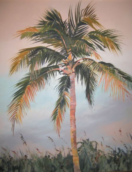 "Image of ""Palm Tree""  original acrylic painting"