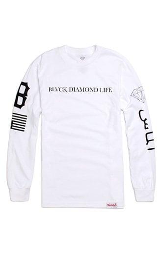 Image of Diamond Supply Co. x Black Scale - Blvck Diamond Life (White)