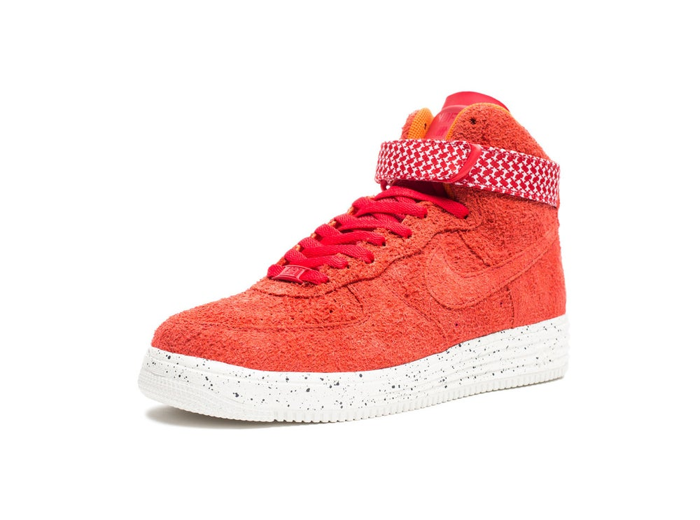 cheap for discount 7a4eb 783f0 Image of Nike x Undefeated - Air Force Lunar Force 1 High SP (University  Red ...