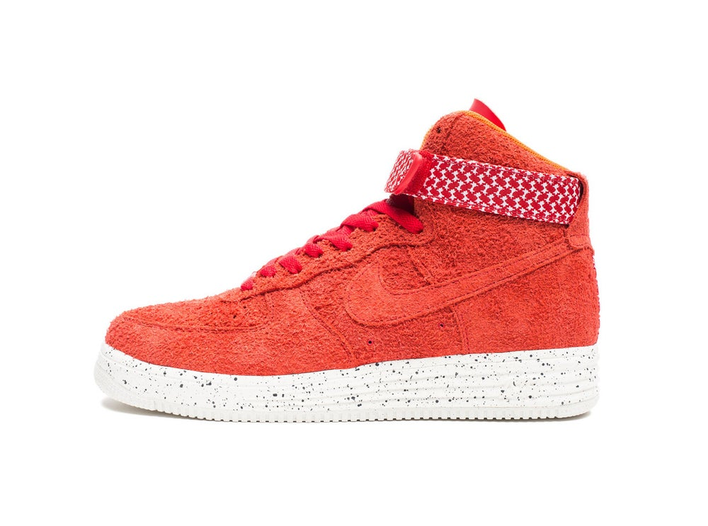 sports shoes 74ec4 7512e Image of Nike x Undefeated - Air Force Lunar Force 1 High SP (University Red