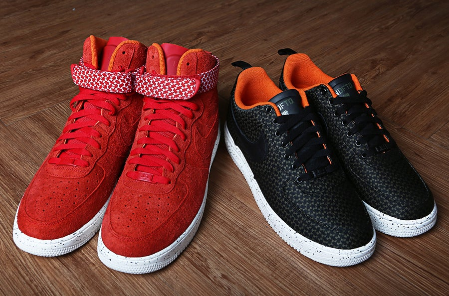 premium selection c5358 d1cb0 ... Image of Nike x Undefeated - Air Force Lunar Force 1 High SP (University  Red