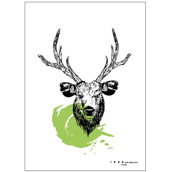 Image of Linen tea towel Deer
