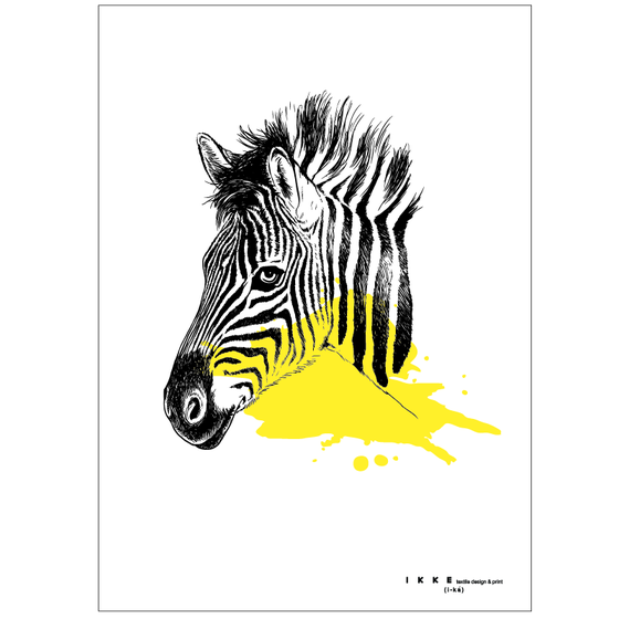 Image of Linen tea towel Zebra