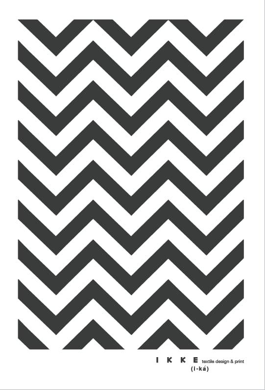 Image of Linen tea towel Chevron charcoal