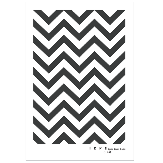 Image of Linen tea towel Chevron charcoal