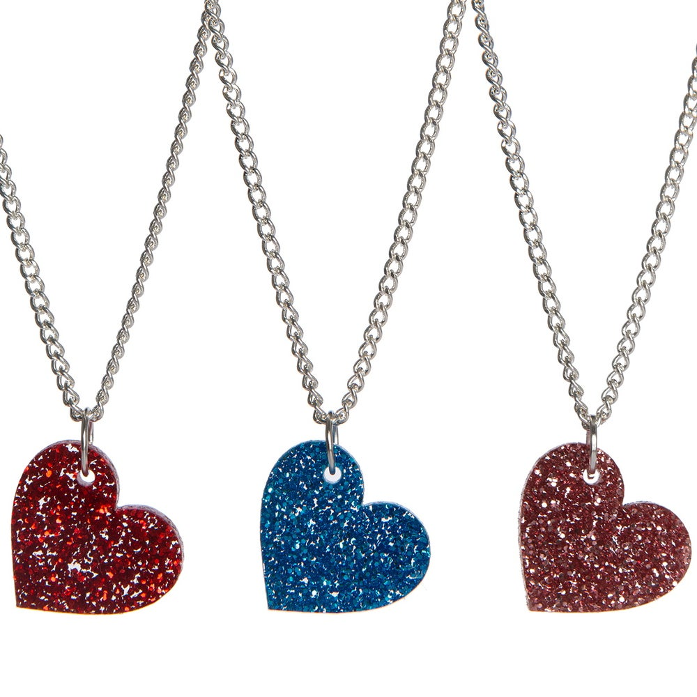 Image of Glitter Heart Necklace