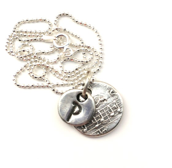 Image of Initial Necklace - Musical