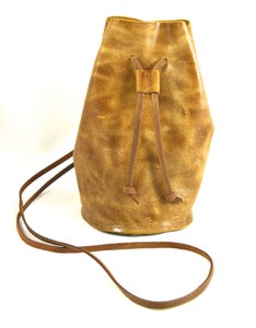 Image of draw string pouch (mottled brown)