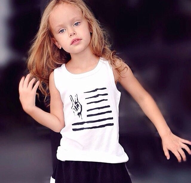Image of Peace in the USA organic cotton tank