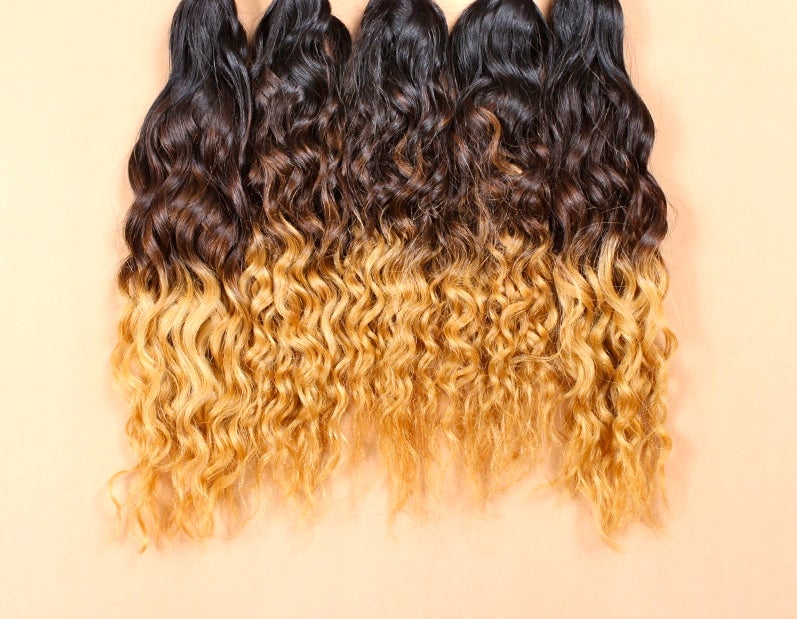 Image of Ombre Brazilian Natural Wave Bundles