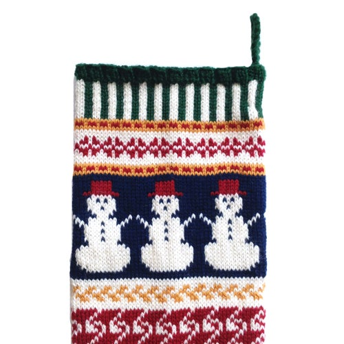 Image of Snowman Christmas Stocking