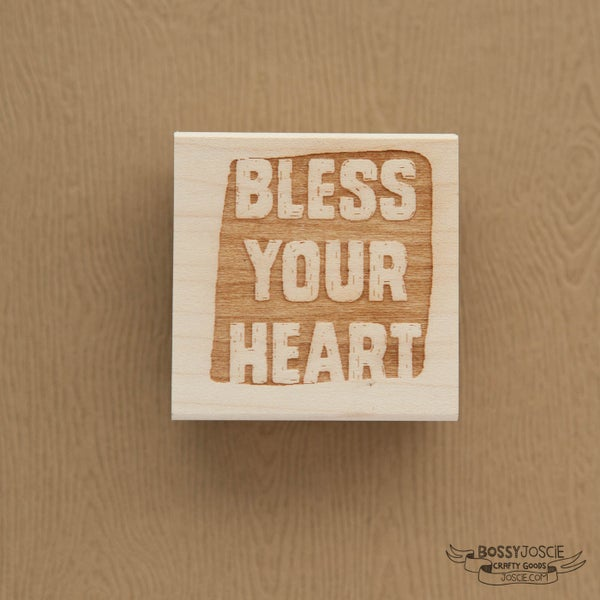 Image of Bless Your Heart Messy Stamp