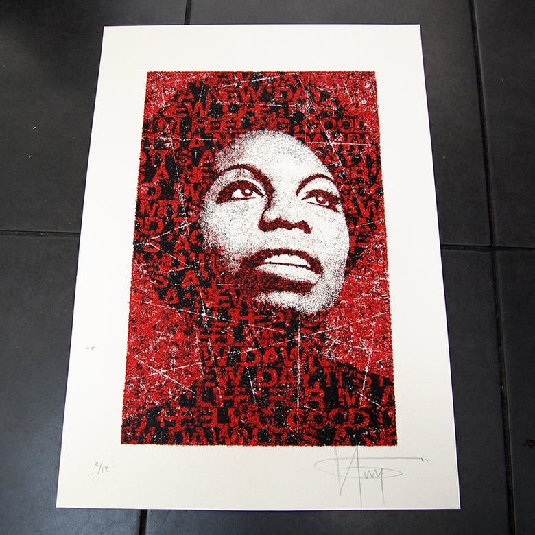 Image of NINA SIMONE - RED - numbered 3/12