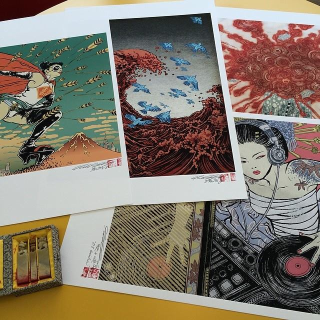 Image of custom printed open editions (on demand, signed + sealed)