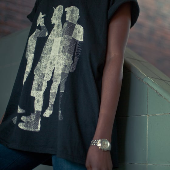 Image of Lola Tee - (White on Black)