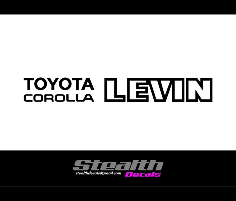 Image of AE86 LEVIN Rear hatch decal