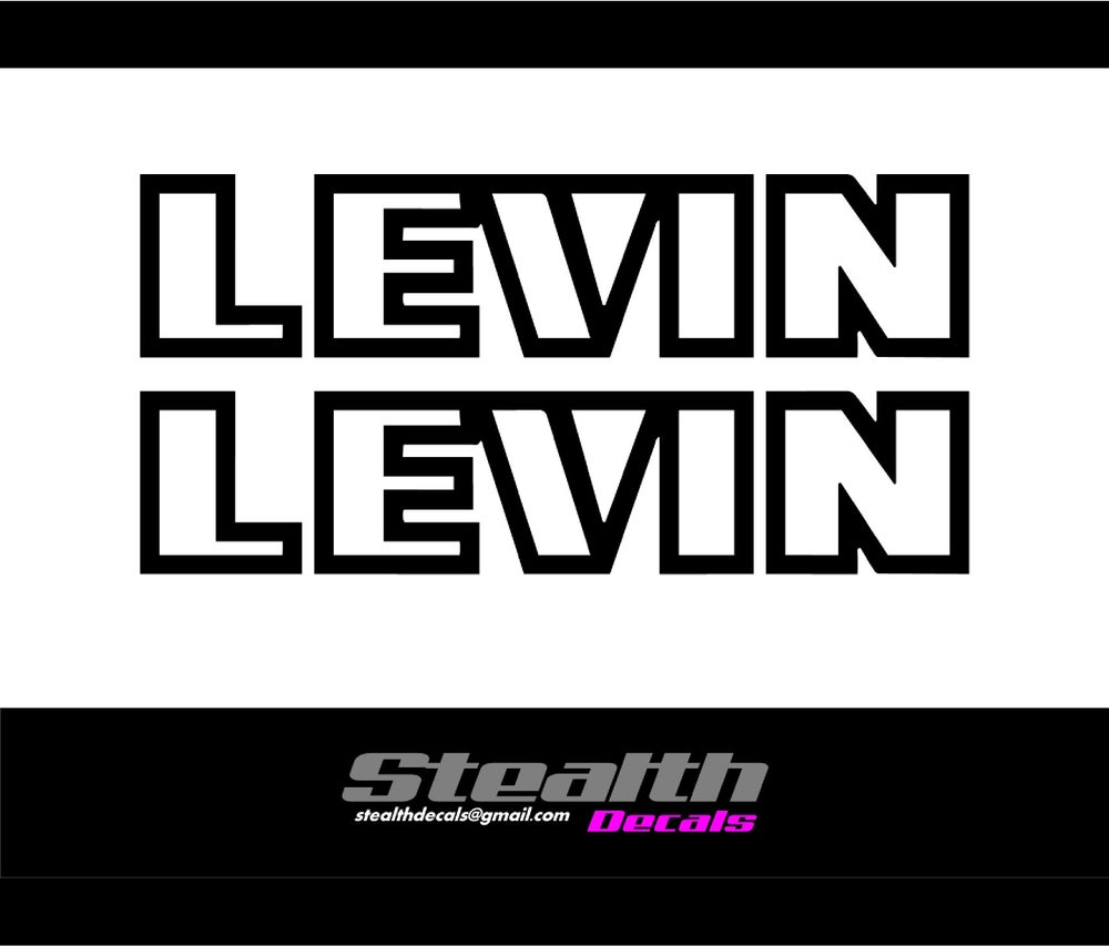 Image of AE86 LEVIN Side moulding decals X2