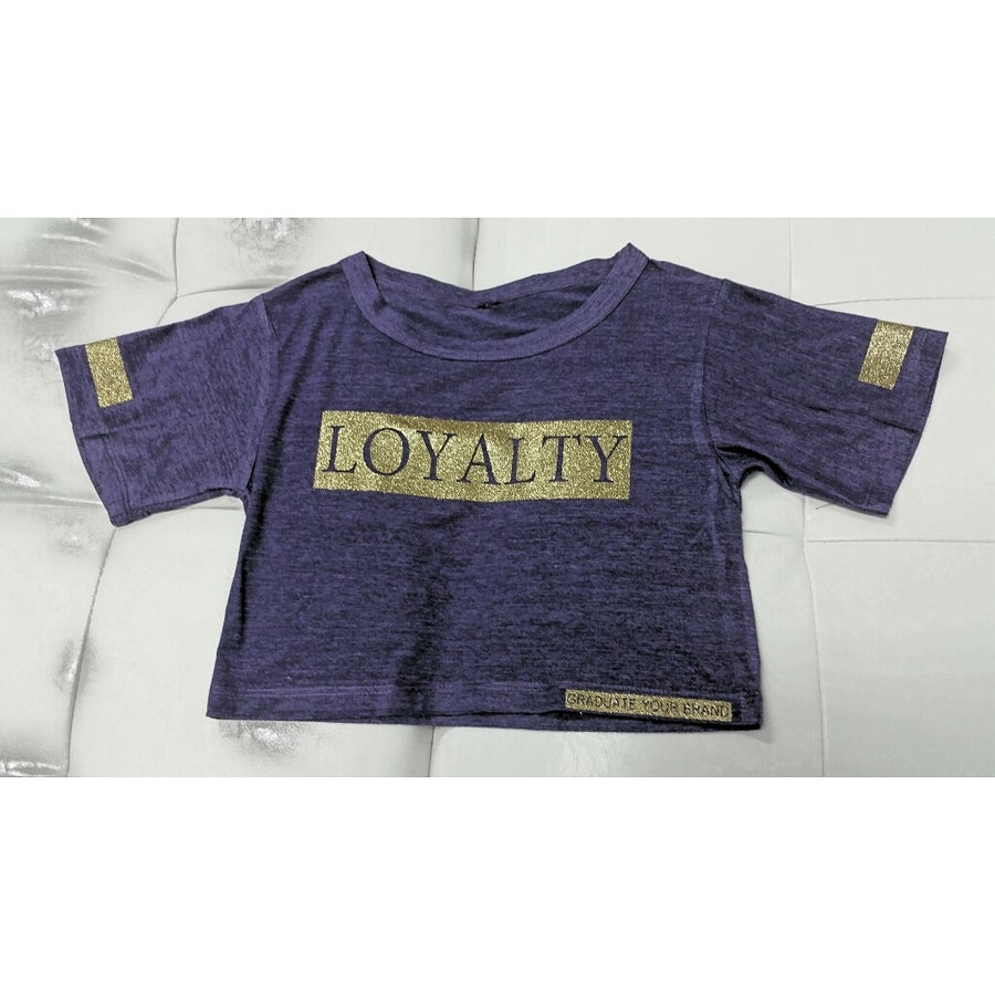 "Image of ""Loyalty"" Gold Gitter CropTop"
