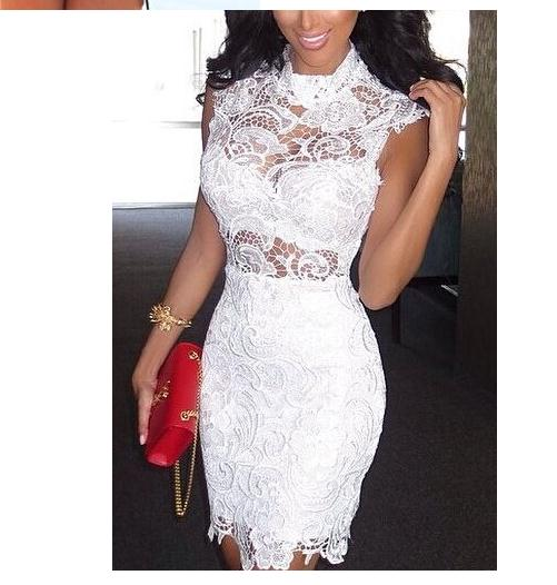 Image of Hot lace show body elegant fashion dress