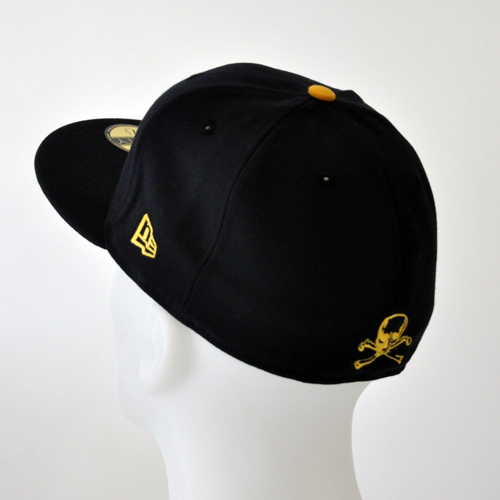 Image of New Era 5950 Fitted Cap - Navy/ Gold