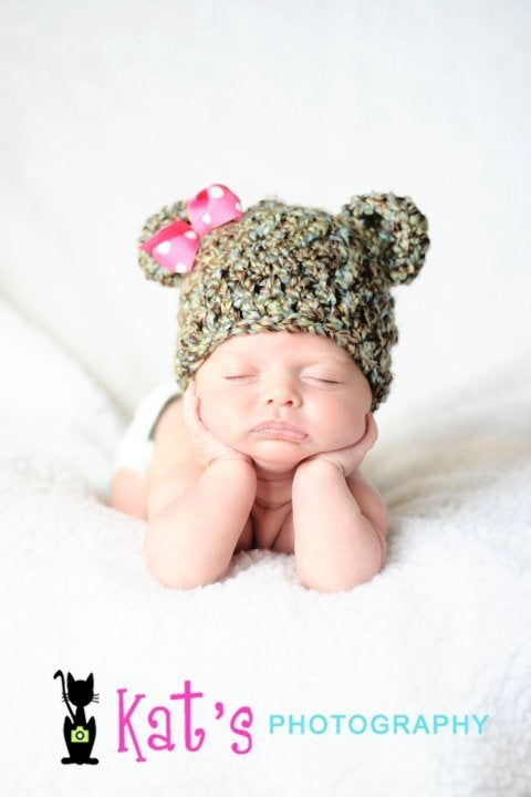 Image of Chunky Ted E Bear, Newborn, Photo Prop