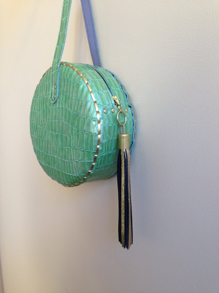 Image of Baby drum bag in light green