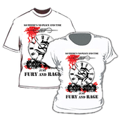 Image of Camiseta Masculina / Men's T-Shirt - Fury and Rage (white)