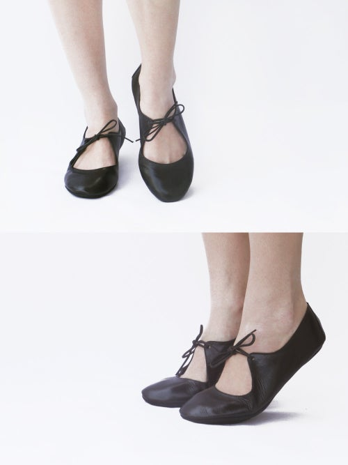 Image of Passion ballet flats in Lustrous Black