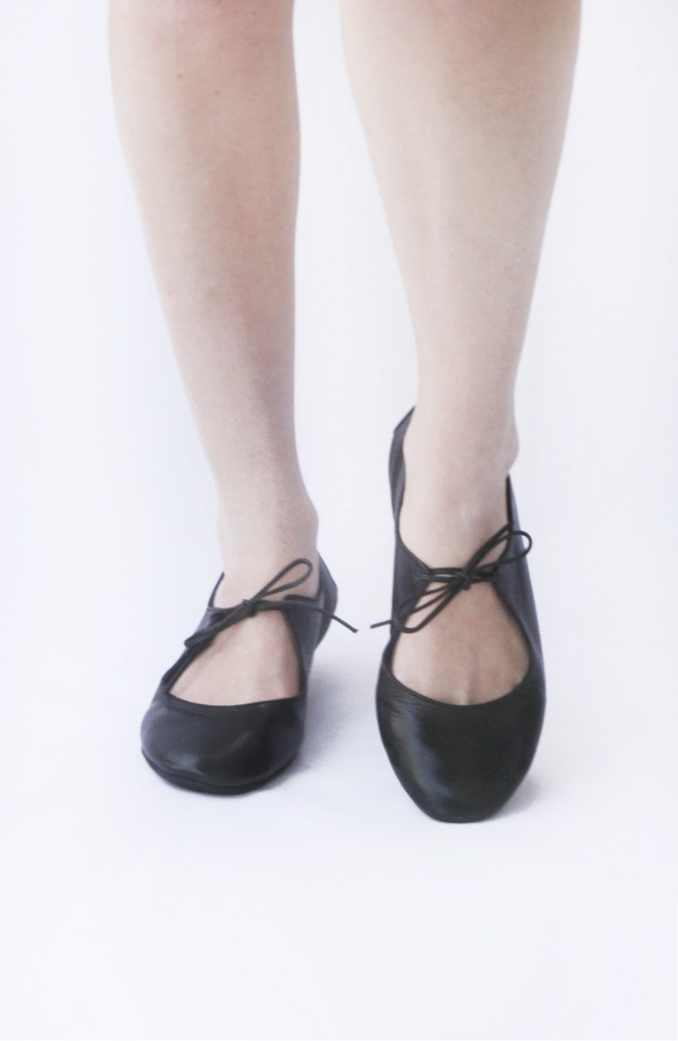 Image of Passion in Lustrous Black - Ballet flats
