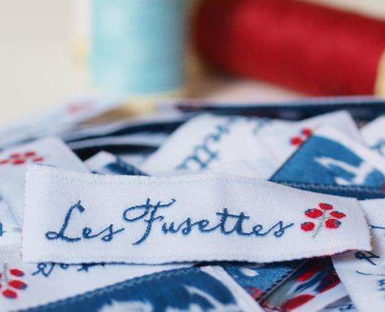 Image of Étiquettes à coudre Les Fusettes
