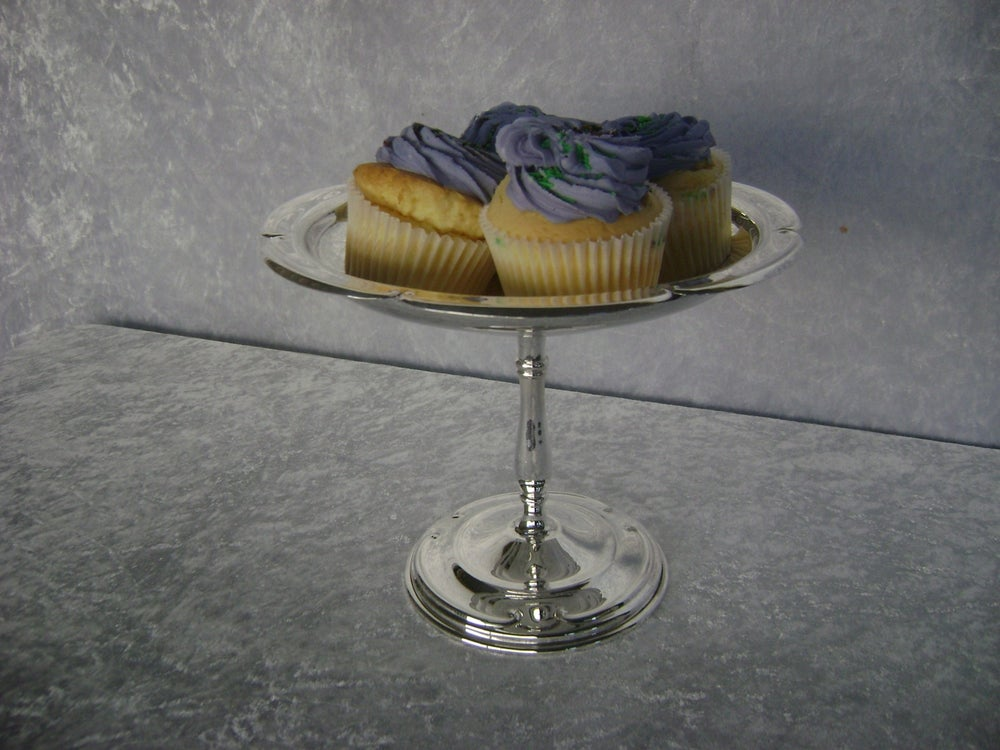 Image of CAKE STAND SILVER PLATED AC40002