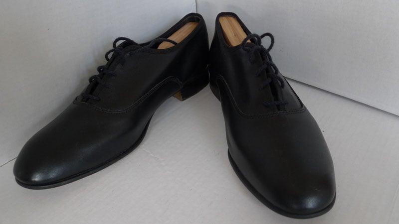 Mario De Gerard Made In Usa Black Balmoral Dress Shoes Size 8