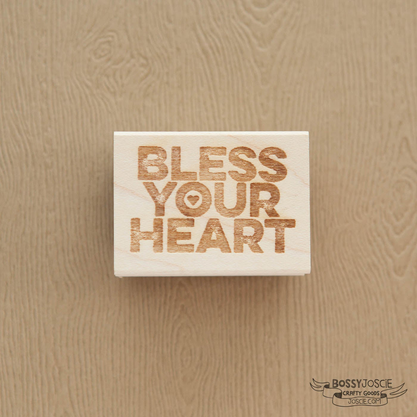 Image of Bless Your Heart textured Stamp