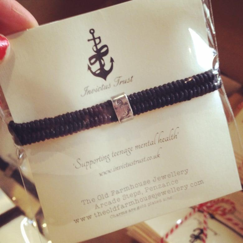 Image of Invictus Unisex Anchor Cord Bracelet