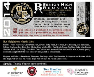 Image of BAHS Reunion Ticket (only for purchase on location) $8